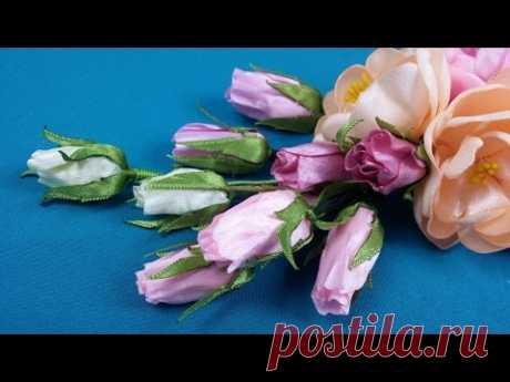 Quick ribbon rose bud/Rosebud rápida de las cintas/Быстрый бутон розы из лент