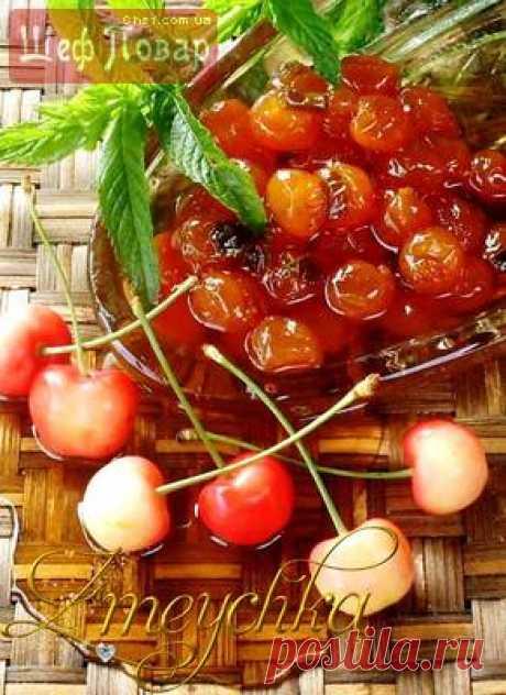 Варенье из черешни с мятой и гвоздикой