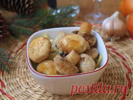 Очень быстрые маринованные шампиньоны / Холодные закуски / Кукорама — вкусные рецепты!