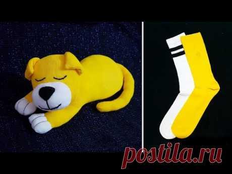 Как сделать собаку из носков