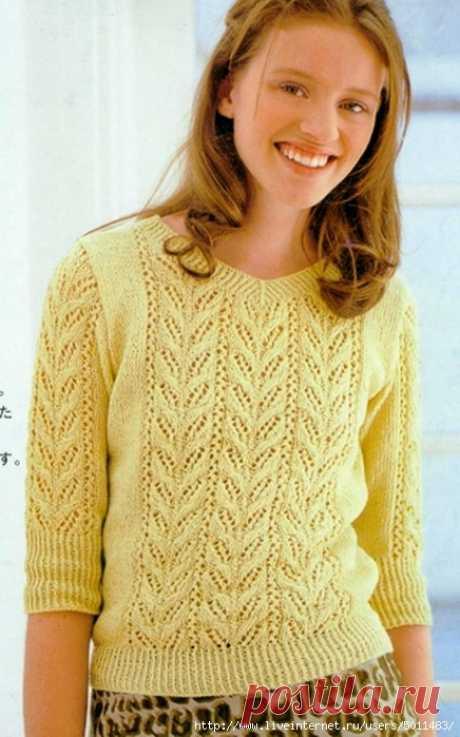 Симпатичный пуловер.