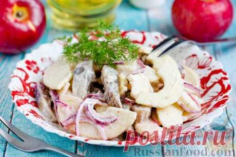 Салаты с сельдью и яблоком. Только лучшие рецепты!