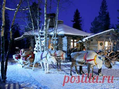 Деревня Санта-Клауса в Финляндии (Лапландия)