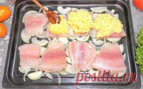 Рыба под рисом. Из скучного гарнира рис превратился в часть изысканного блюда