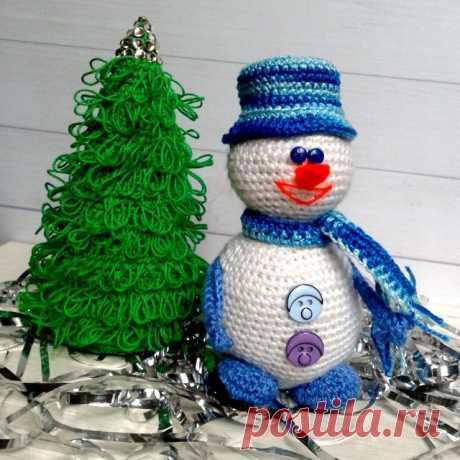 Отличный подарок на Новый Год! Набор Веселый Снеговик и ëлочка в наличии. #ручнаяработаказахстан #игрушкиhandmade #детям #рукоделие #2018 #подарки #handmadeалматы #weamiguru
