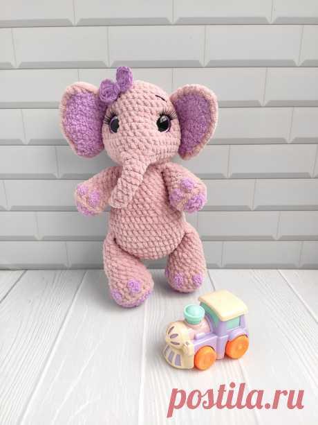 Купить вязаный слоник ручной работы у мастера без наценок | DIY Рукоделие - Мягкая игрушка