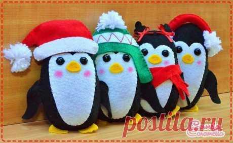 Выкройка пингвина на любой вкус. Шьём игрушки к Новому году. | ИЗ ФЕТРА | Яндекс Дзен