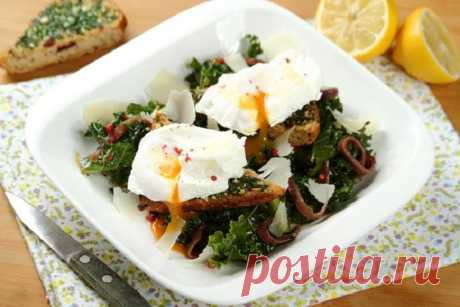 Салат с яйцом-пашот - рецепт с фото – пошаговый рецепт с фото.
