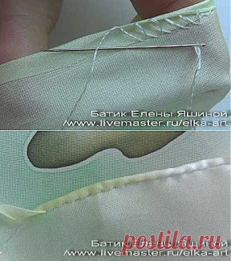 master_klass: It is easy to hem!\u000d\u000aI will show you one way of a podshiv of a product manually to which I was taught by one dressmaker. It so hemmed scarfs when worked in studio of Moscow. It is very convenient to hem in such a way the stretching fabrics, for example diagonal edges of a kerchief, streych when silk creeps in hands and other ways of a podshiv are simply inaccessible. Besides saves centimeters, on having hemmed leaves ~ 0,5sm edge.