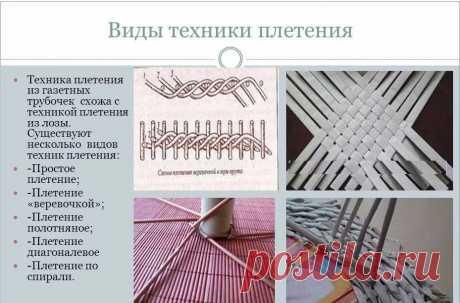 Плетение из газетных трубочек для начинающих: техника плетения и окраски — Сделай сам, идеи для творчества - DIY Ideas