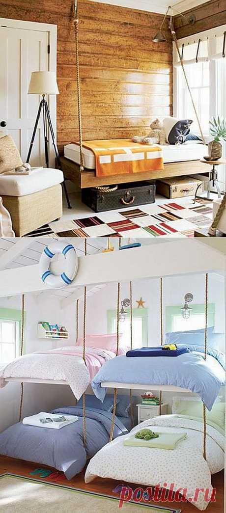 Нарисованное изголовье и подвесные кровати / Спальня / Модный сайт о стильной переделке одежды и интерьера