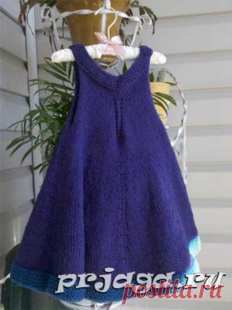Платье и сарафан для девочек спицами или крючком