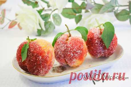 Вкусные пирожные «Персики» | wowcook.net