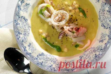 Суп из нута с кальмарами рецепт – средиземноморская кухня: супы. «Еда»