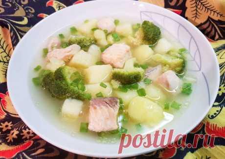 Лососевый суп с брокколи - пошаговый рецепт с фото. Автор рецепта Марина Безноскова . - Cookpad