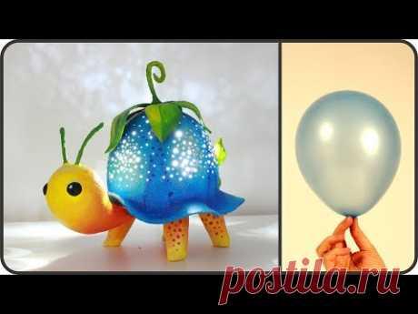 ❣DIY Turtle Lamp Using a Balloon❣ - YouTube