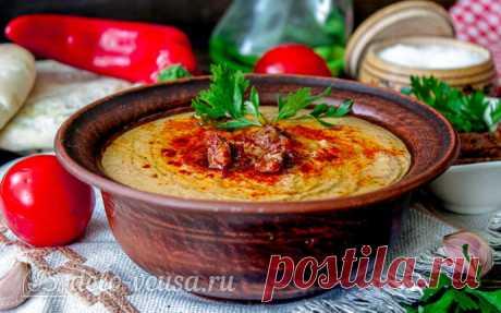 Хумус с вялеными томатами, пошаговый рецепт с фото