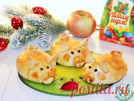 Маленькие закусочные пирожки в виде забавных поросят