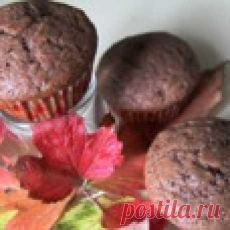 Шоколадные маффины с кусочками шоколада Кулинарный рецепт