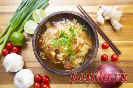 Суп с лапшой Шрирача Рамен - Буддийский шеф-повар