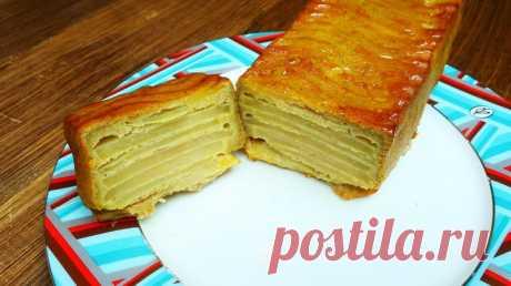 Сочный яблочный пирог — Кулинарная книга - рецепты с фото