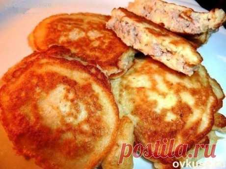 Мясные оладьи на скорую руку - Простые рецепты Овкусе.ру