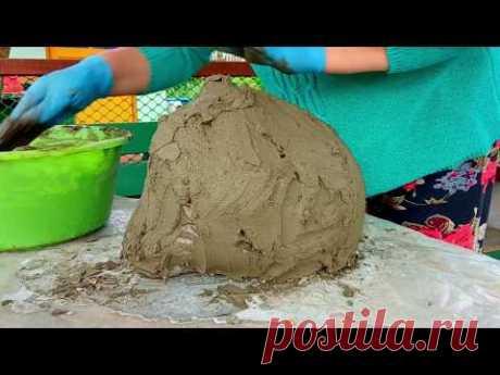 Декоративный ВАЛУН из Цемента      Как Правильно Замешать Цементный Раствор