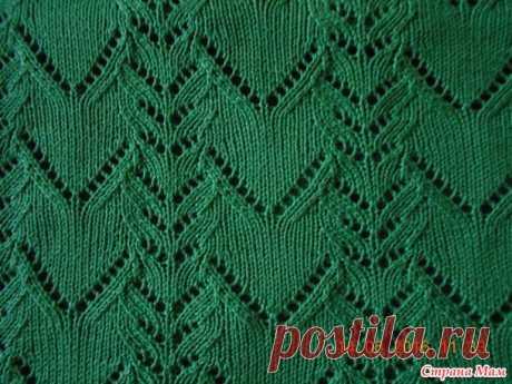 Зеленый пуловер спицами - Вязание - Страна Мам