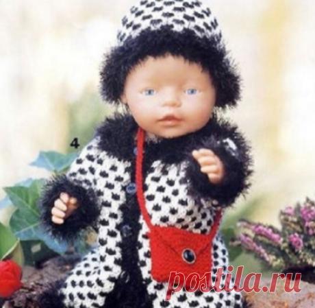 La ropa tejida para las muñecas con los esquemas y la descripción - 2
