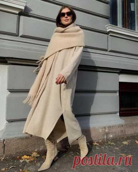 Тёплый шарф и 8 стильных способов его завязывать | Офигенная