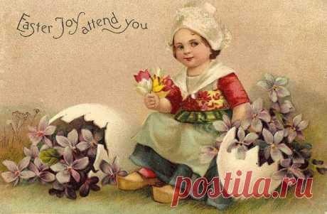 Весна. Пасха. Пасхальные ретро открытки. Декупаж коллаж. Decoupage collage. #дизайн #для_декупажа #картинки_для_творчества #декупаж #декор