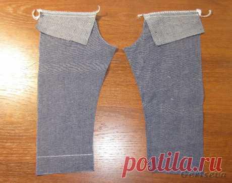 Мастер-класс по пошиву джинс для куклы / Мастер-классы, творческая мастерская: уроки, схемы, выкройки для кукол, своими руками / Бэйбики. Куклы фото. Одежда для кукол