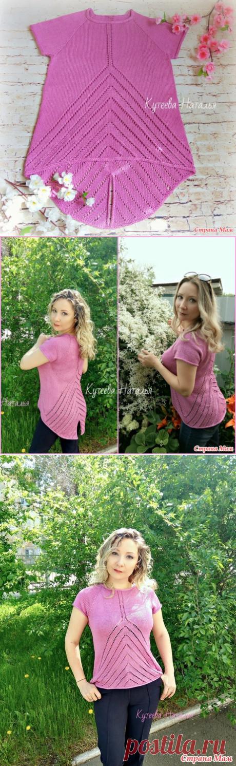 Розовый летний джемпер спицами - Вязание - Страна Мам