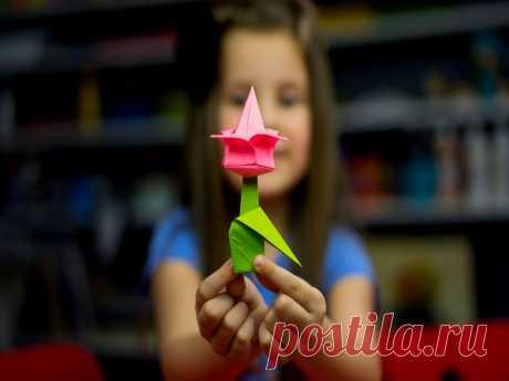 Оригами из бумаги для детей — ТОП лучших поделок своими руками Мы рассмотрим оригами из бумаги для детей. Они способствуют развитию мелкой моторики, воображению и творчества. Пингвин в технике оригами из бумаги готов.