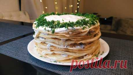 Закусочный тортик с курицей и грибами: интересный способ подать обычные блины   Ксюша-Печенюша   Пульс Mail.ru Эффектный торт с курицей и грибами хорош как холодном, так и в теплом виде. Отличная альтернатива обычным фаршированным блинам.