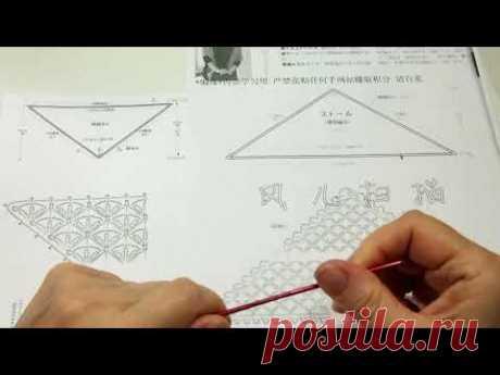 Как связать шаль  Практические советы для начинающих  Урок 219  How to tie a shawl