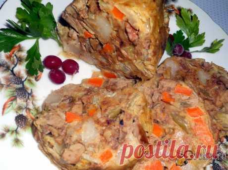 Домашний зельц из куриной печени