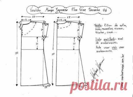 Летнее платье женское – цельнокроеное. Размеры plus size 46-60 (европейские) (Шитье и крой) – Журнал Вдохновение Рукодельницы