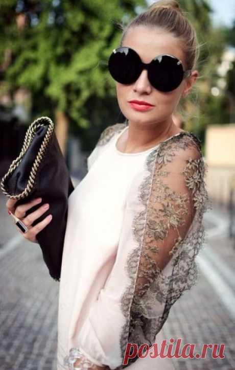 Блузы с оригинальными рукавами с кружевом: идеи для творчества