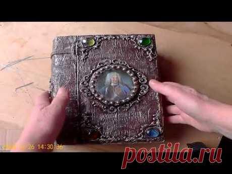 Идея поделки шкатулка-книга из картона.