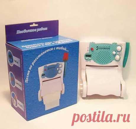 Держатель туалетной бумаги с УКВ-радио и часами - 703 руб