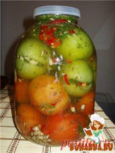 Рецепт: Зелёные помидоры с начинкой