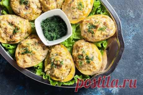 Картофель, фаршированный сельдью - О Да Еда! Вкусно!