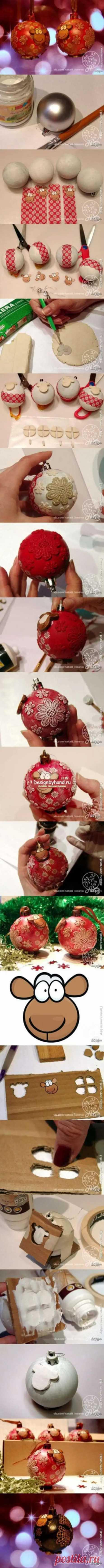 Декупаж новогодних шаров: ТОП - 20 идей и мастер-классы пошагово с фото - Домоводство - медиаплатформа МирТесен
