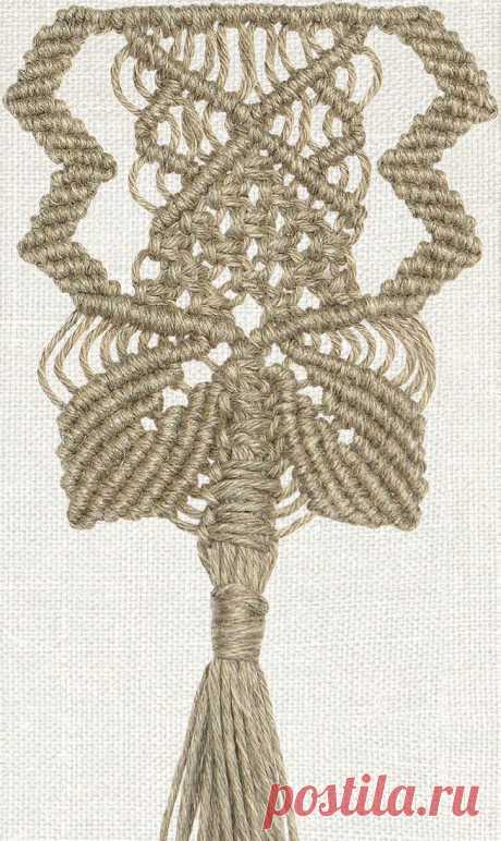 Узор «Каменный цветок» — Макраме