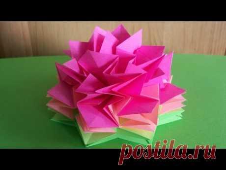 Объемные Цветы Своими Руками Из Бумаги. Гвоздика Для Открыток, Фотозоны, Аппликаций, Декора