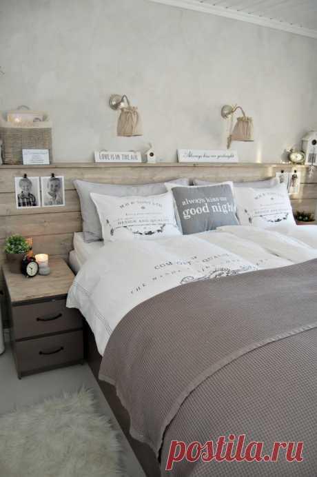 25 способов украшения стены за кроватью в спальне — Roomble.com