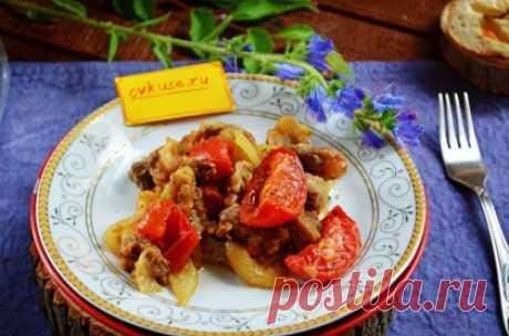 Теплый салат с куриными желудками - Простые рецепты Овкусе.ру