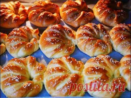 Los cruasanes TURCOS con la brynza y el requesón los Cruasanes la receta la Cocción las recetas los Cruasanes testo