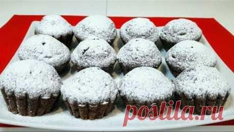 Шоколадные Кексы Маффины за 2 минут + 15 минут выпечка Простой Рецепт Очень Вкусных Кексов Маффинов
